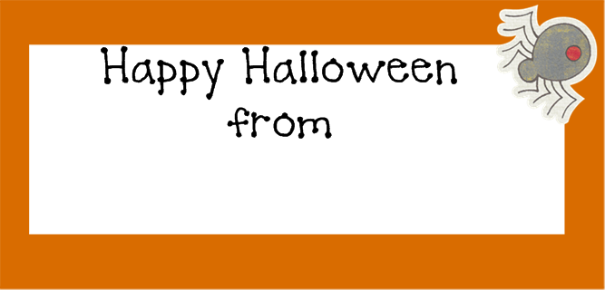image about Printable Halloween Labels named Halloween printable address labels for children - Try to eat Generate Existence