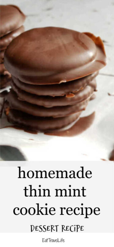 No need to wait to buy them in a box. Make your homemade thin mint cookies whenever you want them, for a lot less. Made with just 3 ingredients.