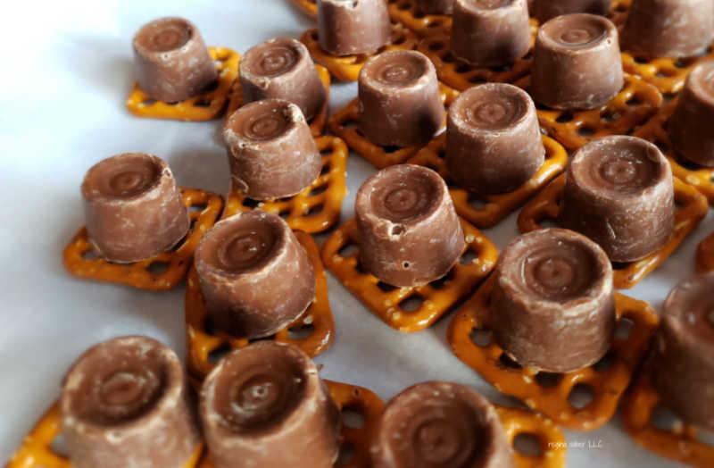 pretzels and caramel