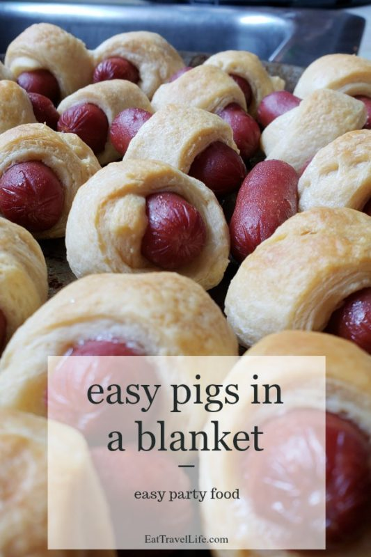 Need a simple snack? Pigs in a blanket are easy to make. Make them with crescent rolls and they are light and fluffly. Perfect for parties or after school snacks.