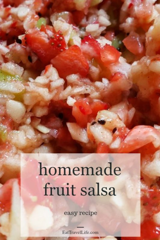 No tomato salsa! In fact, it's made with fruit! But this healthy fruit salsa recipe is simple and quick to make and is full of flavor & your favorite fruits