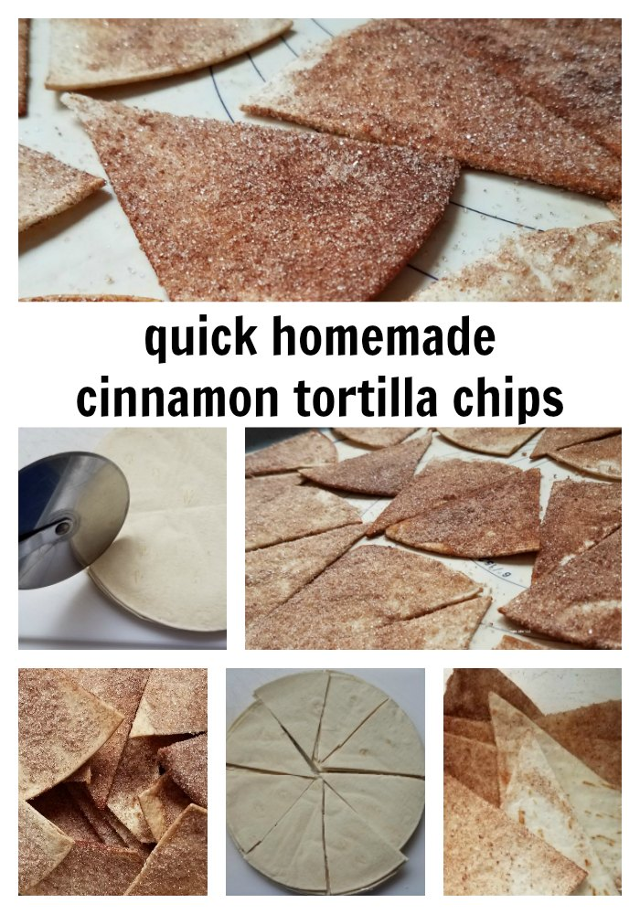 Delicious and simple, homemade cinnamon tortilla chips. So simple and easy to make.