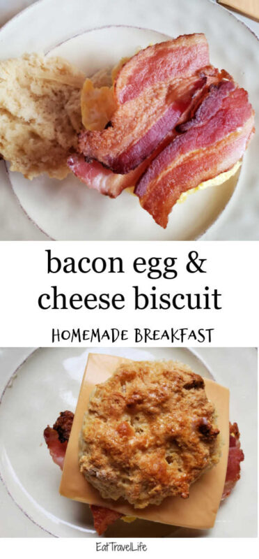 Wanna save money on breakfast? Make and enjoy these homemade bacon egg and cheese biscuit. With little effort save money and eat a great breakfast!
