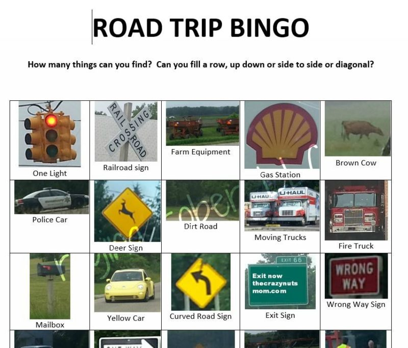 Do you have kids that need to be entertained in the car on trips? Check out this road trip bingo or I spy game. You're welcome. Silence is awesome.