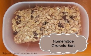 Homemade Granola Bars snack food recipe
