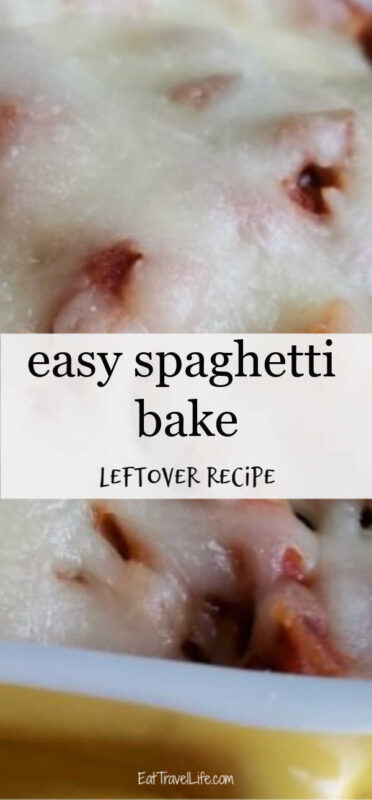 Need easy leftovers? See how you can turn your spaghetti into a easy second meal. This easy baked spaghetti is a crowd pleaser.