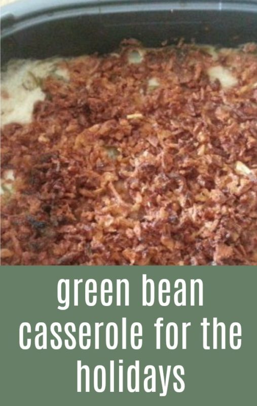 Green bean casserole doesn't have to just be for the holidays. It is great for everyday cooking, you just need to adjust how much (or little) you serve.