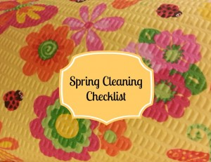 Printable: Spring Cleaning Checklist