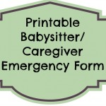 Use this form for printable babysitter (or caregiver) form, to help those who care for your kiddos.| eattravellife.com