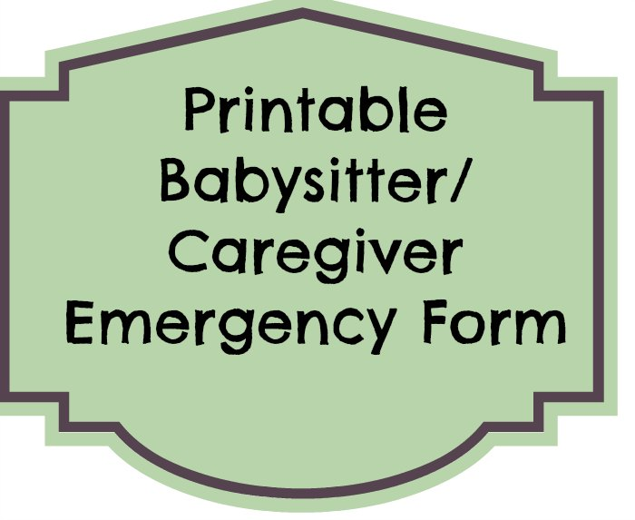 Use this emergency contact form for the babysitter so that they know who to contact in case of an emergency and details to care for your kids.