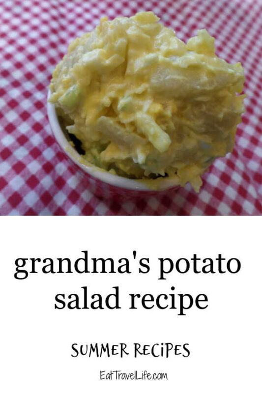 Looking for old fashioned potato salad? This recipe comes pretty close to how my grandma made hers. Perfect side with your summer events.