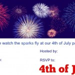 invite your family and friends to your 4th of July party with some patriotic invitations| eattravellife.com