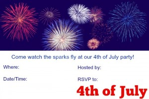 4th of July Invitations free #printables