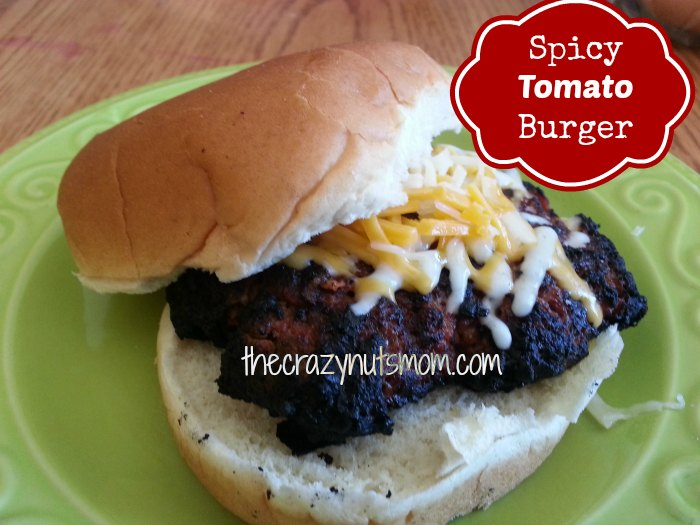 A spicy twist on the regular burger, the Spicy Tomato Burger #sponsored add your favorite cheese and enjoy!|eattravellife.com