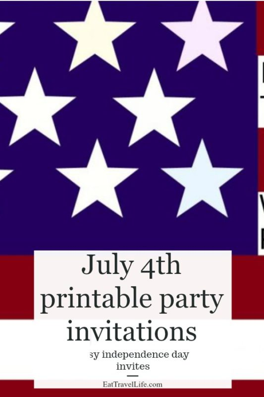 Having a 4th of July party? Check out these cute independence day invitations you can send your guests for your July 4th party.