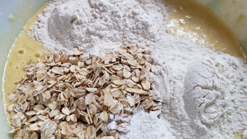wet ingredients for bread