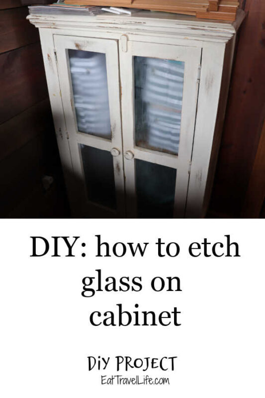 Want to hide the stuff in your cabinet? See how you can etch glass and make a big impact on your cabinet and not stare at your stuff inside easily.