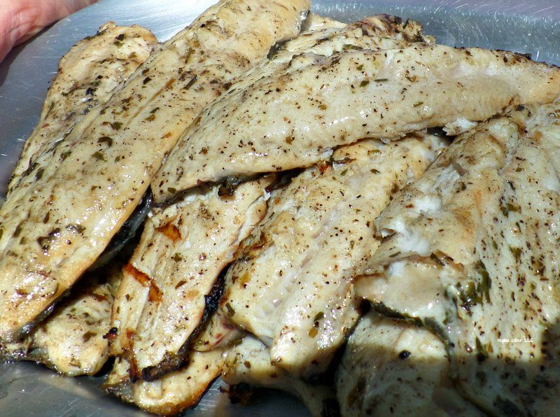 Fresh Trout Recipe Grilled with Lemon and tarragon. Quick, simple and ready in 6 minutes. Prepare the rest of the meal first, cook the fish last.