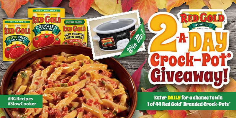 Enter to win a chance to win a crock-pot from Red Gold. They are giving away 2 crock-pots a day. Also check out the delicious Slow Cooker Pulled Pork| eattravellife.com