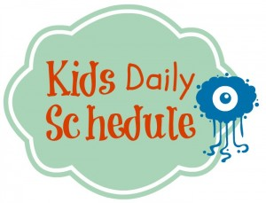 #Printable Kids Daily Routine Schedule