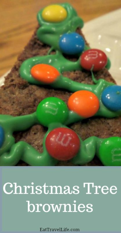 Take a simple brownie and make it festive and fun for your next holiday party, kids Christmas party or at work.  eattravellife.com