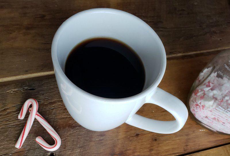 homemade peppermint coffee recipe coffee cup