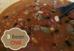 Easy & Hearty 3 Bean Chili recipe