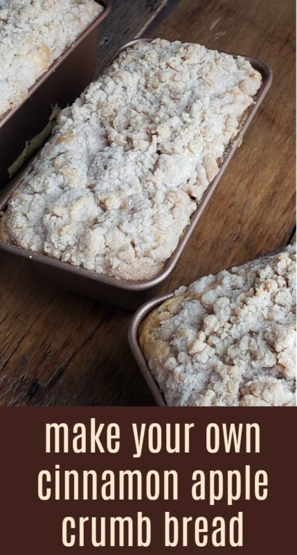 Cinnamon apple crumb bread just takes bread to a whole other level. Have you ever had a delicious crumb topping on bread before?