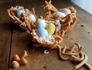 edible Easter egg bird nest