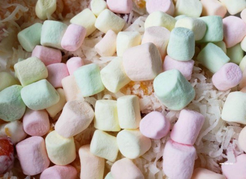 ambrosia fruit salad with marshmallows
