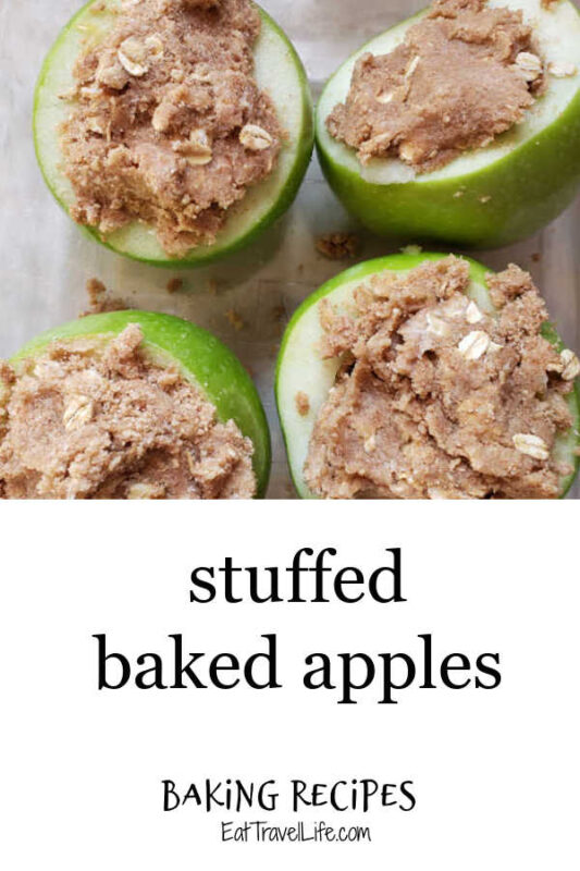 Simple stuffed baked apples are like mini apple crisp for one. These are easy and delicious & you can make this apple recipe quickly for your family.