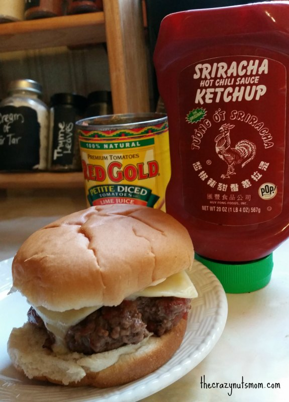 make your own sriarcha mayo for your burger