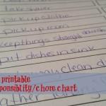 chore chart kids to do list