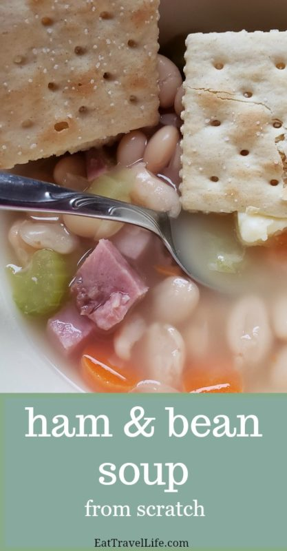 Got leftover ham? Make this homemade Ham and bean soup recipe with leftovers. Perfect for those times you are short on time to make dinner.