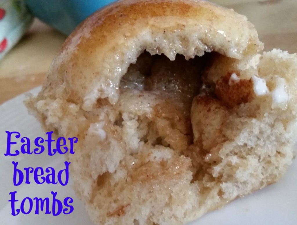 Easter bread tombs are a great teaching element. A great message to show your kids how Jesus not in the tomb when they removed the stones. Your kids will be surprised how the marshmallow is no longer in the bread. | eattravellife.com