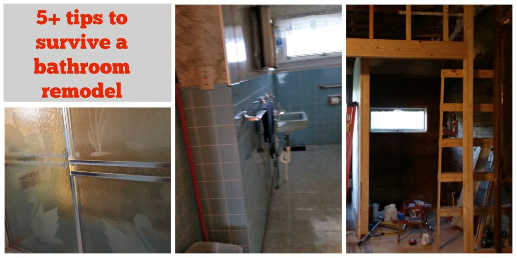 tips to survive bathroom remodel. Be realistic. | eattravellife.com