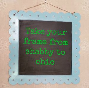 paint metal frame shabby chic diy