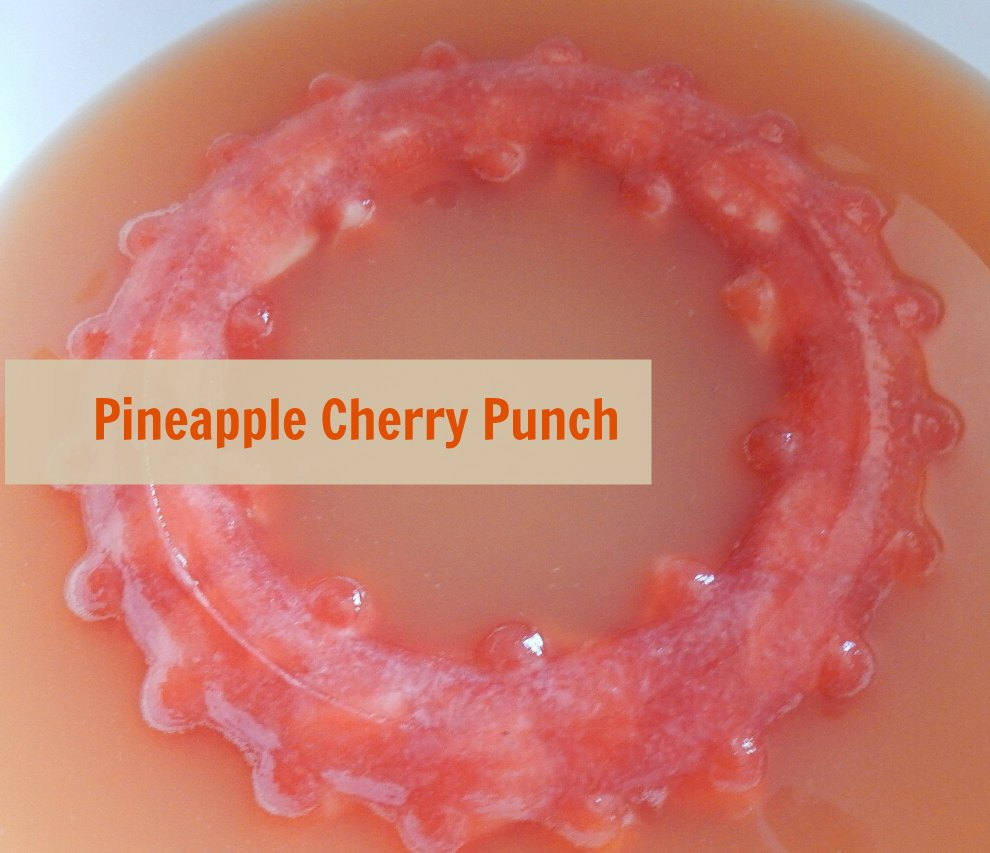 Pineapple cherry punch to make your punch stay chill. Great for family events, graduations & more - eattravellife.com