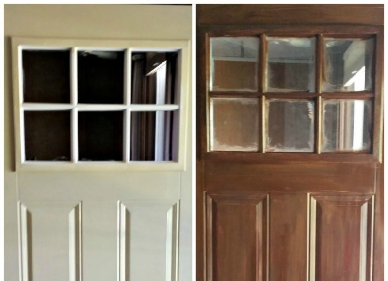 how to paint your steel door to look like wood