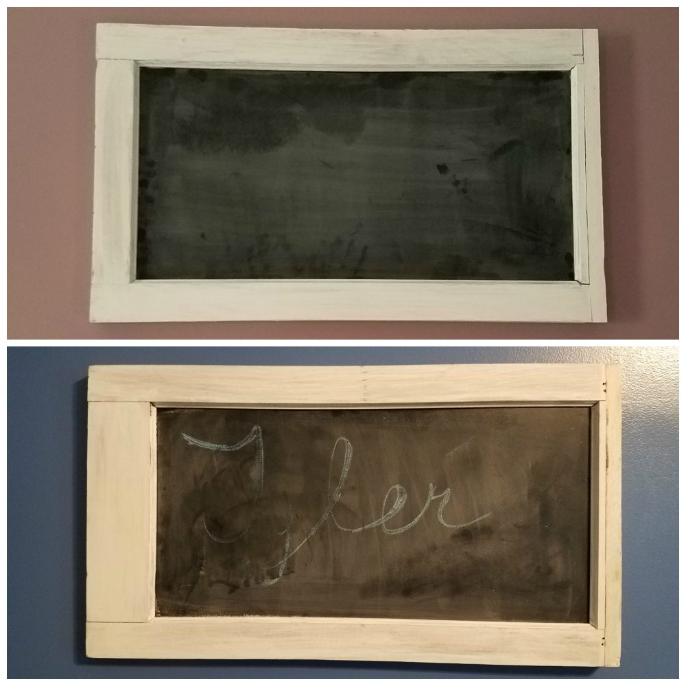 Make your own chalkboard frame using an old window frame diy project - eattravellife.com
