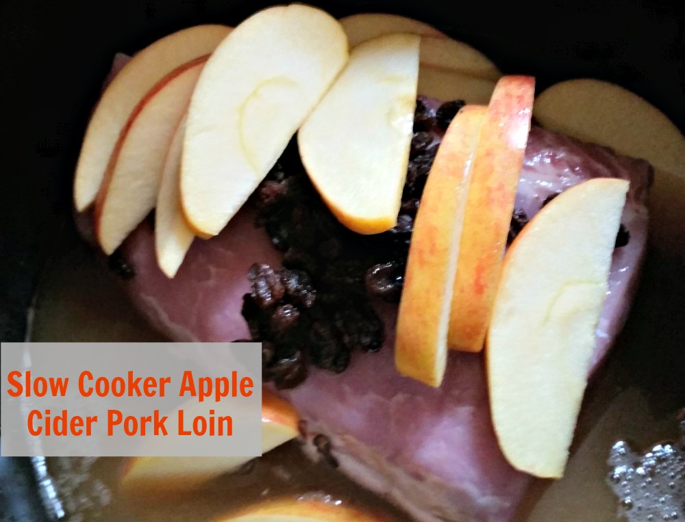 Apple Cider Pork loin is a great savory dish. Cooking in the slow cooker makes the dish pull apart easily. - eattravellife.com