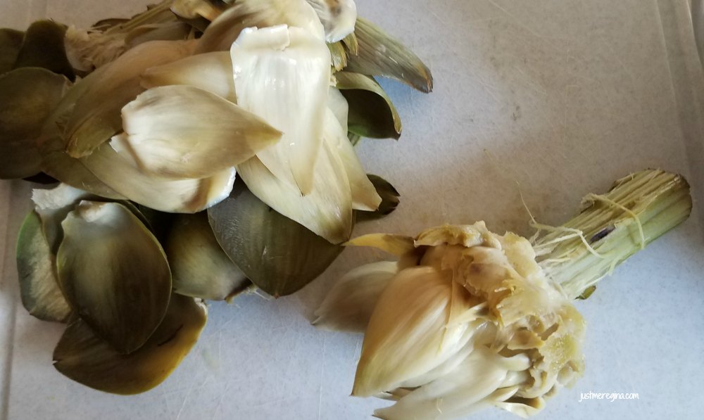 Instead of buying artichoke hearts for your next dish, you can cook artichoke hearts yourself. - Justmeregina.com