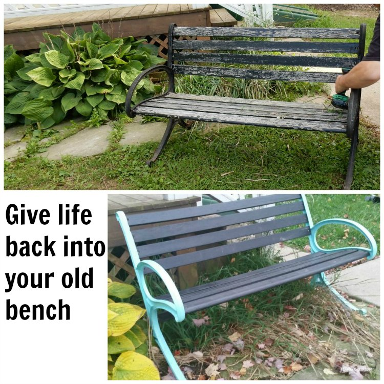 Updated your bench. Take your old tired bench and give it some new life with paint and tlc. - eattravellife.com