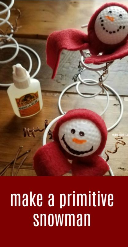 Great for gifts, yourself or to tell at craft shows. Your own primitive spring snowman made from a spring. Super cute and easy to make.
