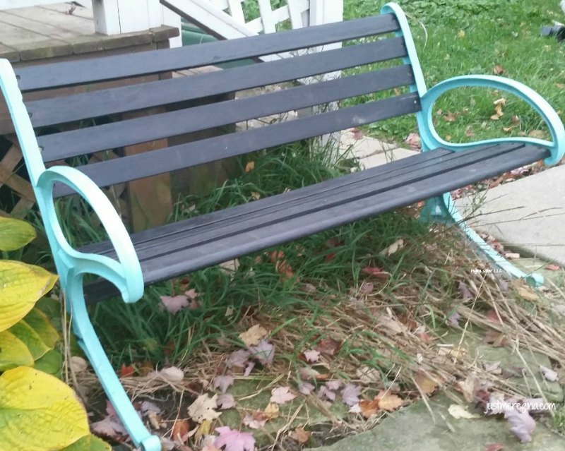 repaint old bench