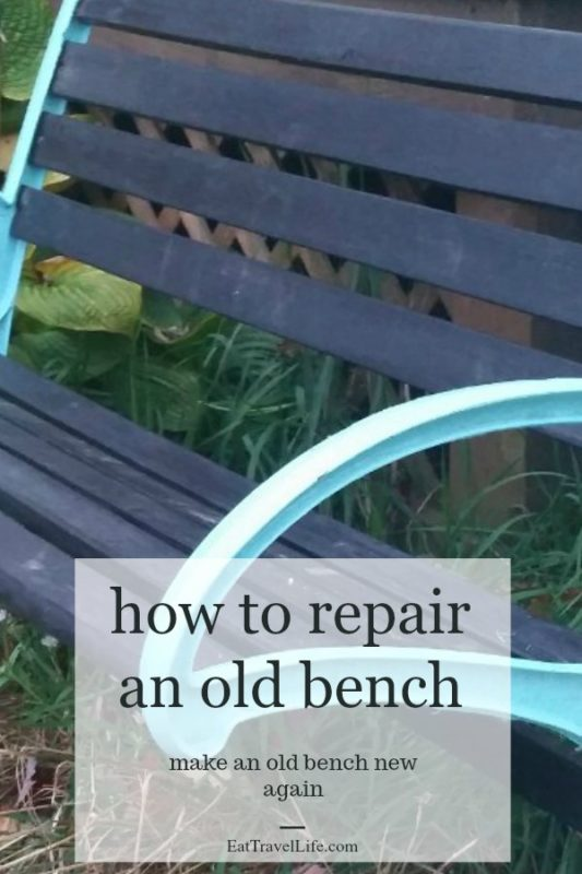 Check out how you can repair an old wobbly bench and make it looking beautiful. Just a little paint and sanding can save you a lot of money.
