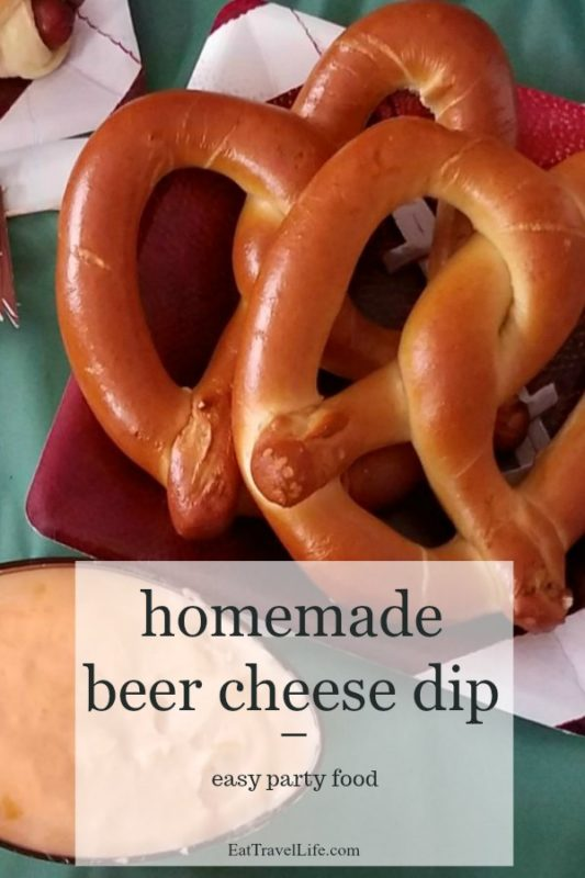 Beer cheese dip is great to serve at parties. Perfect to watch the game with friends. Football, basketball, baseball. Serve with pretzels or on hot dogs.