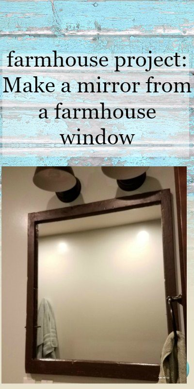 Love the farmhouse look? Check out how you can make a farmhouse mirror from a window. Find the perfect window for the project and get started! #farmhousemirror #farmhousebathroommirror #farmhousemirrordiy #farmhousemirrordecor #farmhousemirrorframe #farmhousewindowproject #farmhousemirroridea #farmhousewindowideas #farmhousewindowmakeover