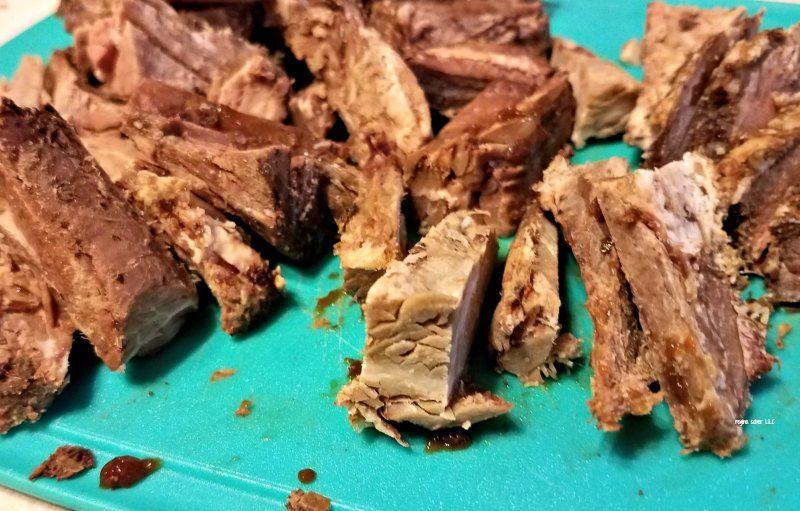 homemade beef stroganoff in cast iron