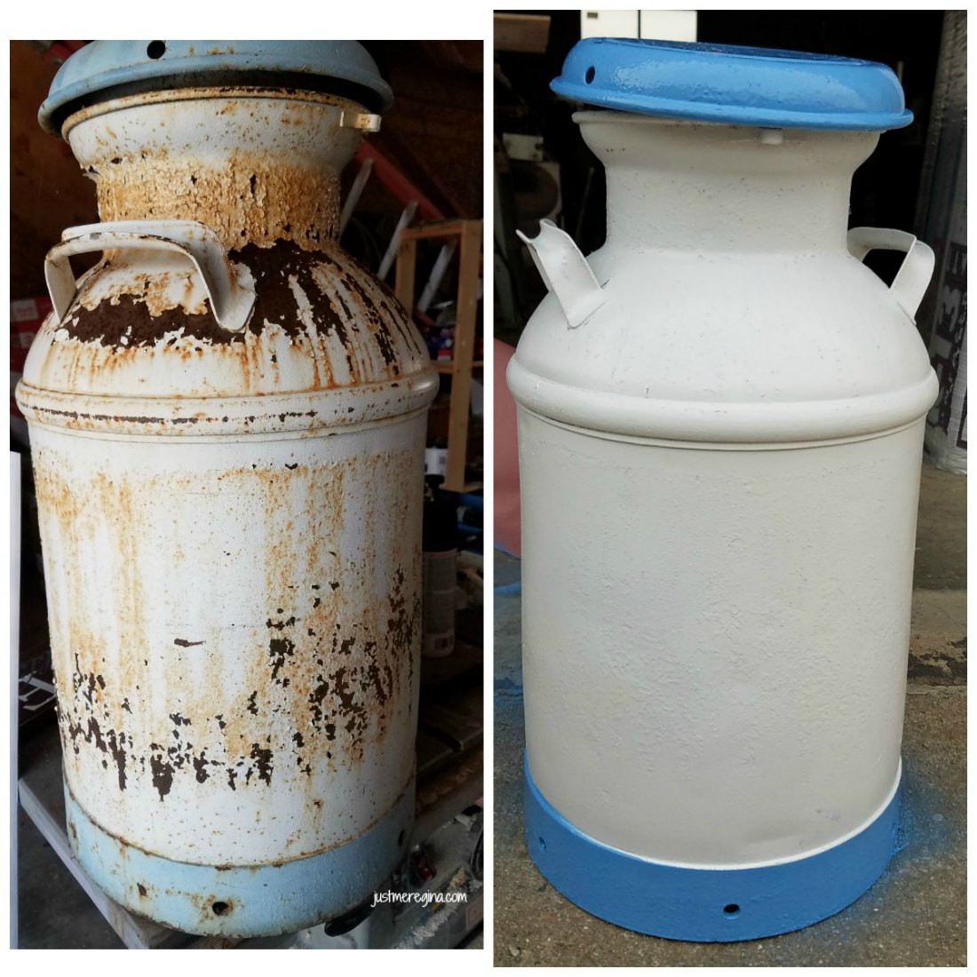 Vintage Milk Can Restoration Project Diy - Eat Travel Life-8384